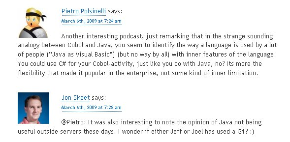 From blog.stackoverflow.com, podcast 44 comments