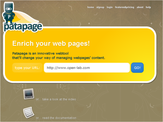 patapage first version