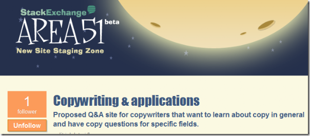 area 51 proposal: Copywriting & applications