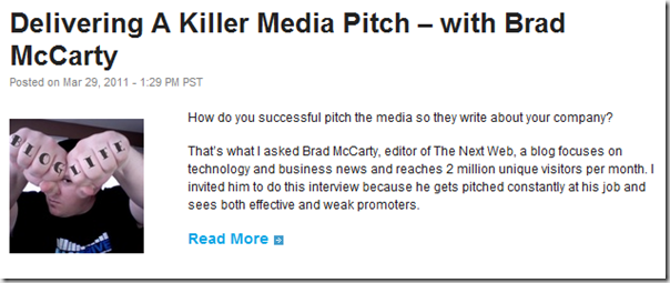 Delivering A Killer Media Pitch – with Brad McCarty