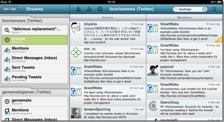 HootSuite on iPad