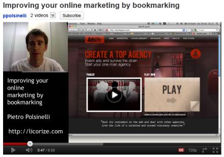 Marketing & bookmarking