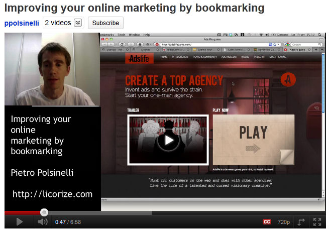 Improving your online marketing by bookmarking - webinar