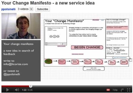 Change manifesto webcast