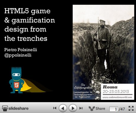 HTML5 on Slideshare